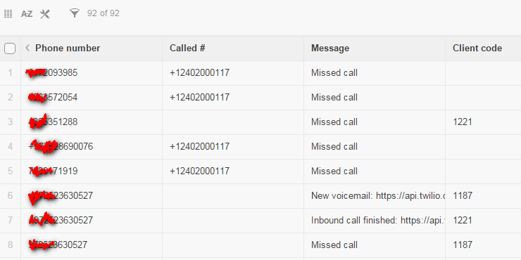 Call tracking for Podio
